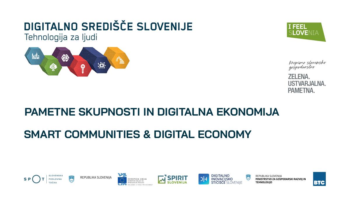 Banner Pametne skupnosti in digitalna ekonomija