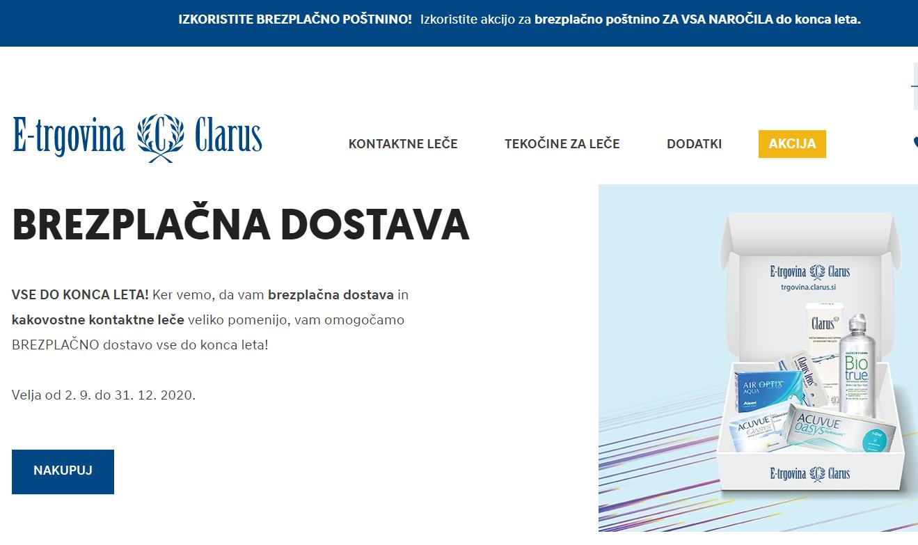 Optika clarus vstopna spletna trgovina
